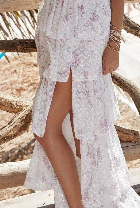 Bonita - Suknia o długości maxi z krótkim rękawem