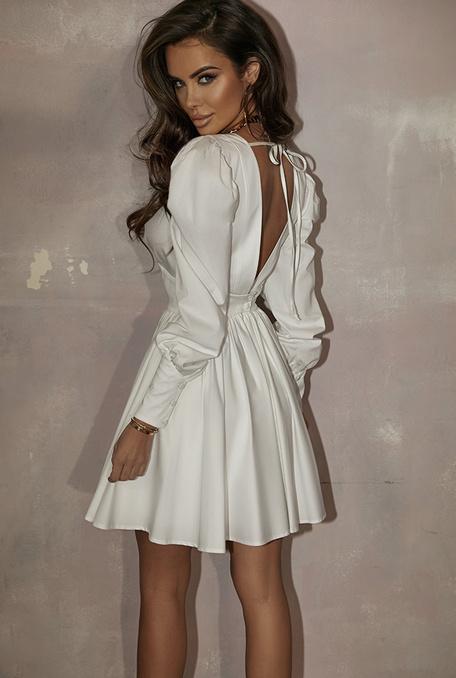MAJORELLE - Biała sukienka z delikatnej tkaniny