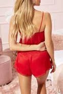 Piżama Meuse - Czerwony dwuczęściowy satynowy komplet LNight
